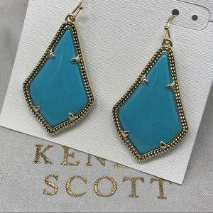 Kendra Scott Alex drop earring turquoise gold